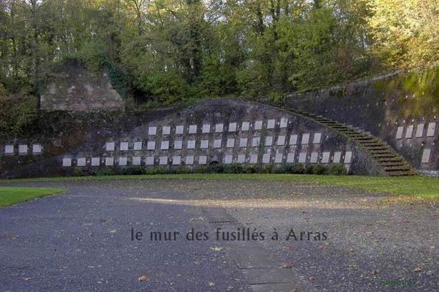 Le mur des fusill s arras louvre lens tourisme - Office du tourisme d arras ...